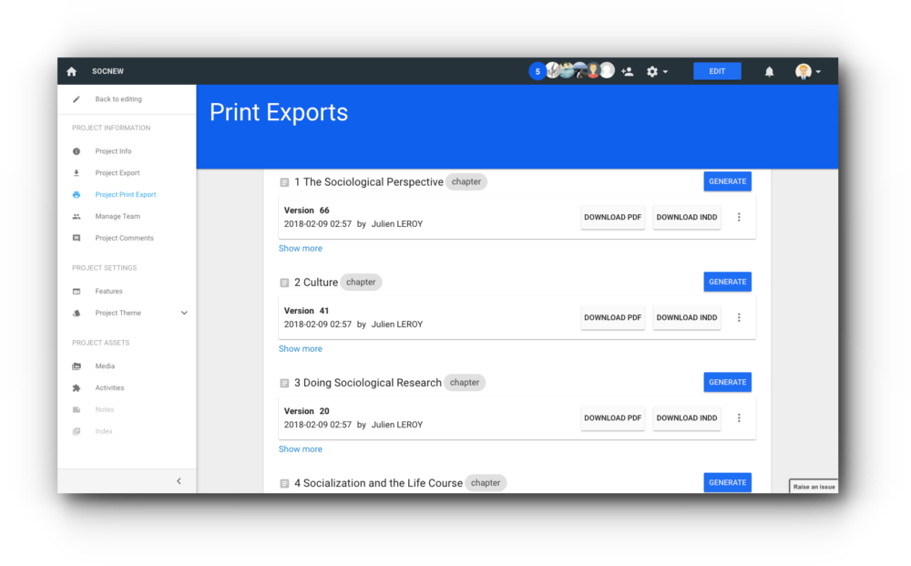 Export for Print